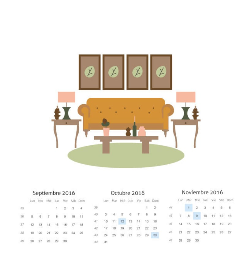 La estaciones y la decoracion. Mi Proyecto del curso: Ilustrando el tiempo 3