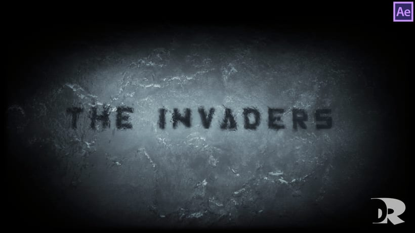 """Title sequence design - After Effects - """"Invaders"""" 5"""