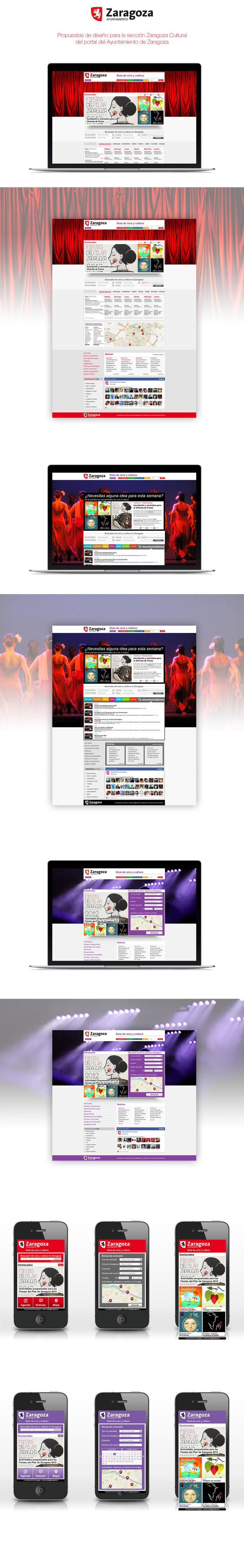 Zaragoza Cultural | Website concept + App concept -1