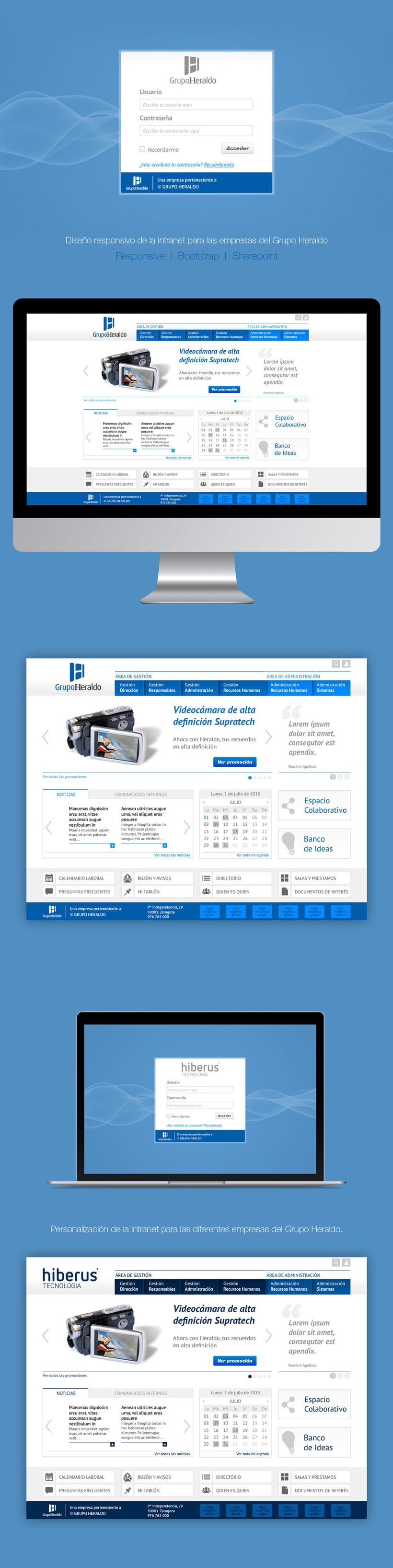 Grupo Heraldo | Responsive Sharepoint Intranet -1