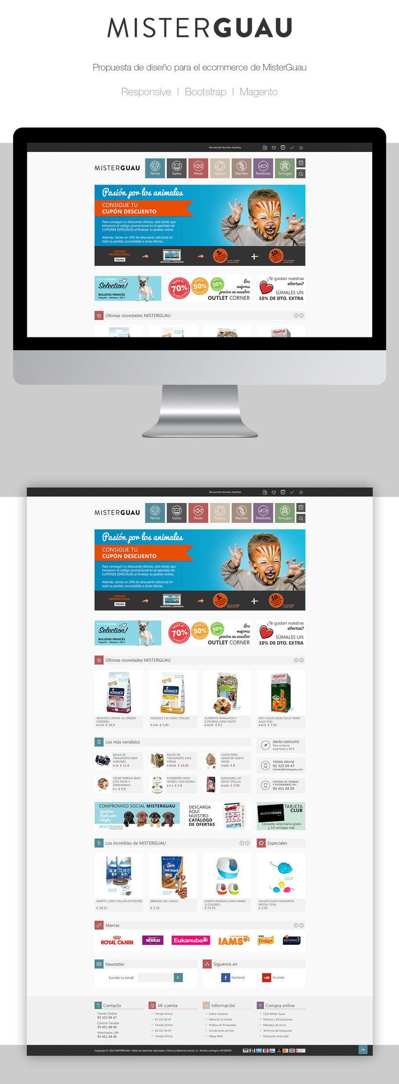 MisterGuau | Ecommerce website concept -1