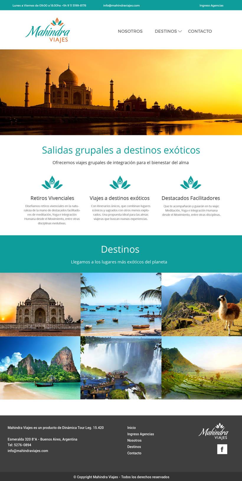 Web Mahindra Viajes - Proyecto en desarrollo 1
