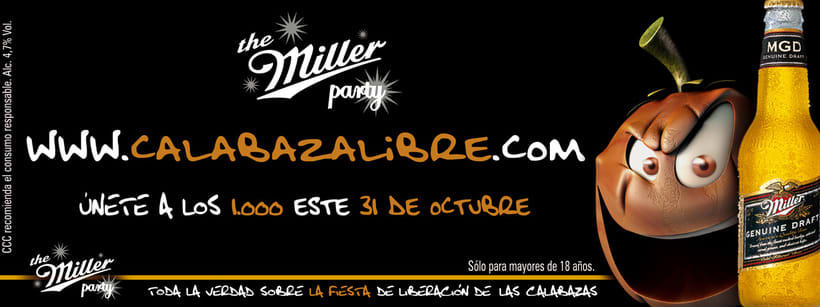 CERVEZA MILLER - CALABAZA LIBRE (halloween party 2007) 2