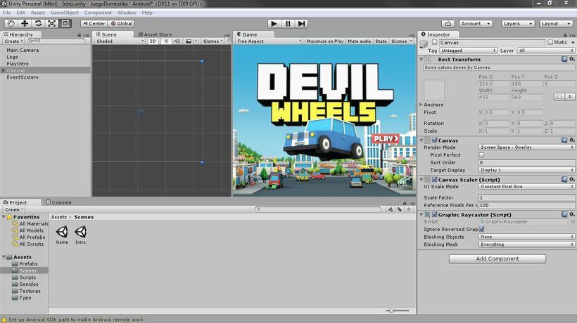 Mi Proyecto del curso: Diseño y Programación de videojuegos con Unity 5 0