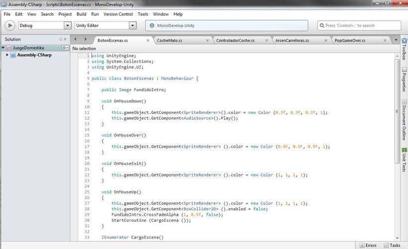 Mi Proyecto del curso: Diseño y Programación de videojuegos con Unity 5 2