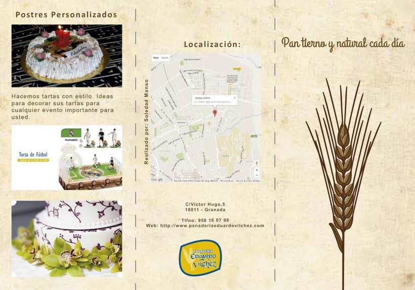 Cartel y triptico Panadería Vilchez 2