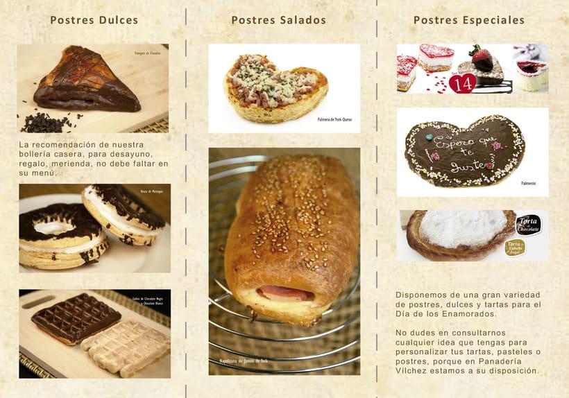 Cartel y triptico Panadería Vilchez 3