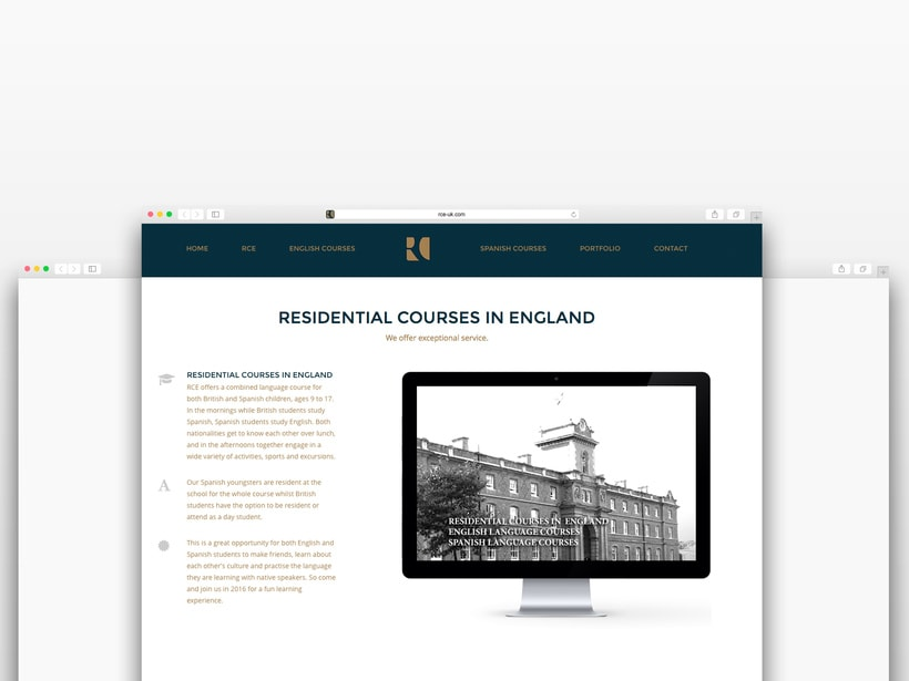 Branding RCE Residential Courses in England Identity · Design · Web 3