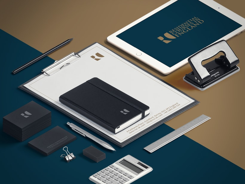 Branding RCE Residential Courses in England Identity · Design · Web 1