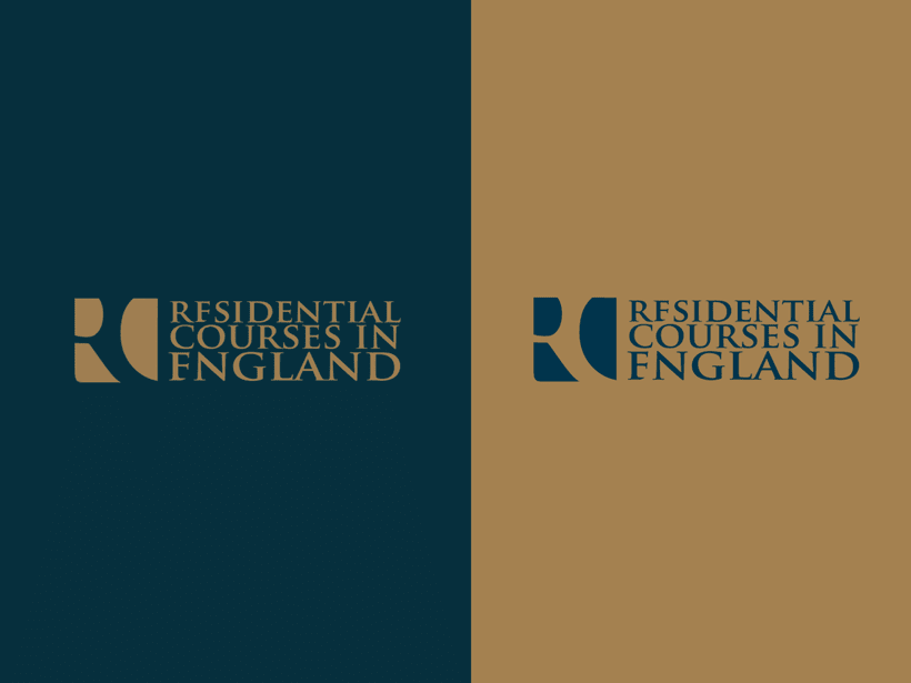 Branding RCE Residential Courses in England Identity · Design · Web 0
