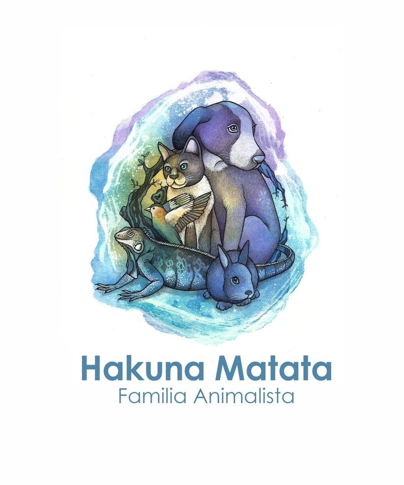 """Adaptación del logo """"Hakuna Matata - Familia animalista"""" -1"""