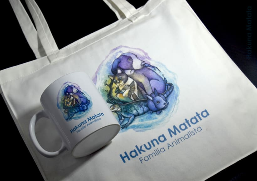 """Adaptación del logo """"Hakuna Matata - Familia animalista"""" 1"""