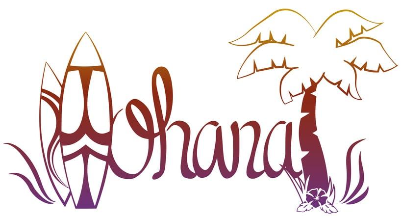 Lettering - Ohana 0