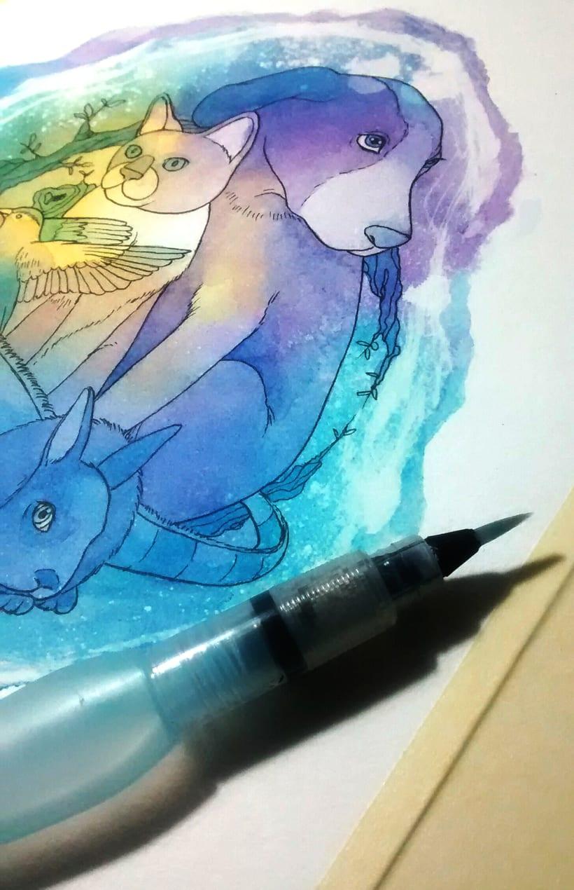 """Adaptación del logo """"Hakuna Matata - Familia animalista"""" 2"""