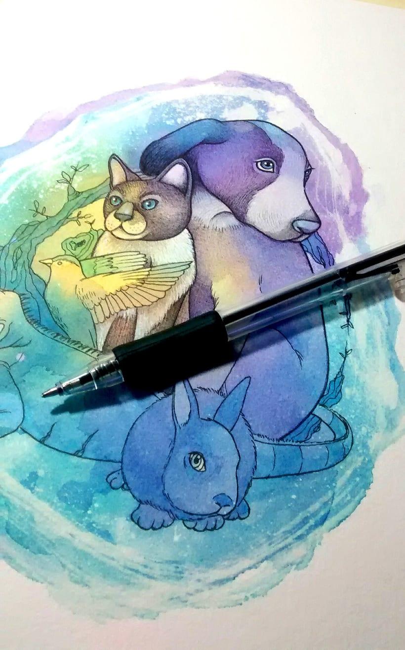 """Adaptación del logo """"Hakuna Matata - Familia animalista"""" 3"""