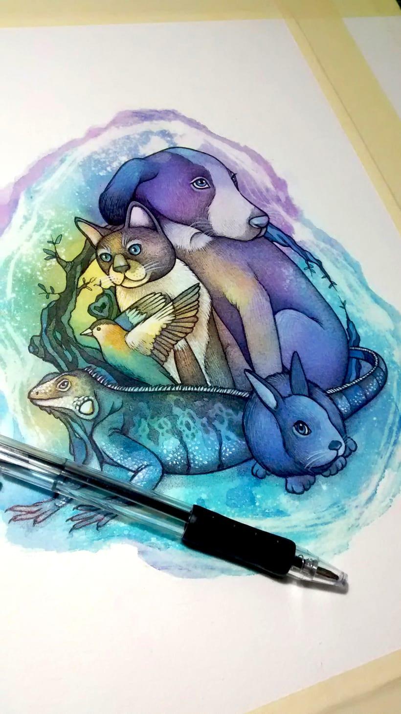"""Adaptación del logo """"Hakuna Matata - Familia animalista"""" 4"""