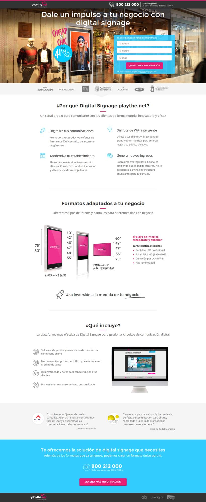 Landing page (Diseño + maquetación) 0