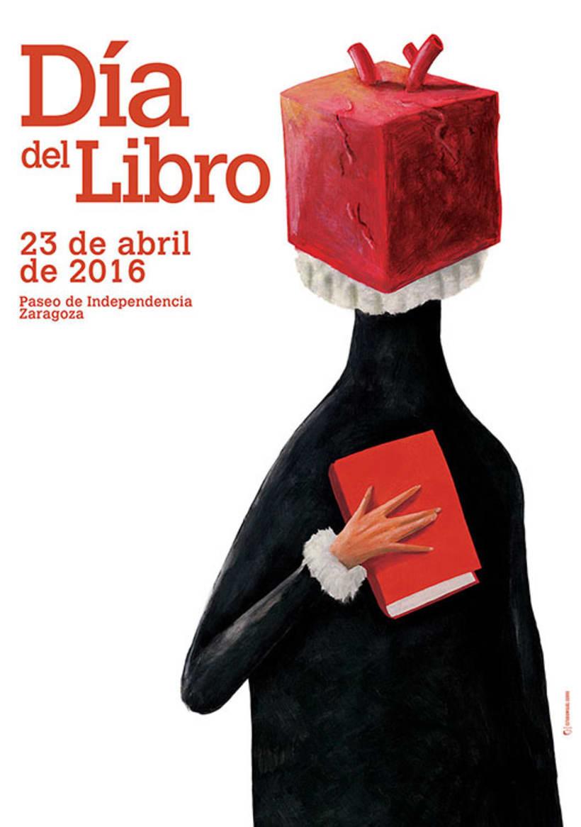 Cartel Día del Libro 2016, Zaragoza. 0