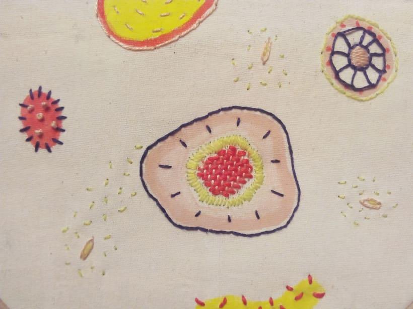 Células Parenquimáticas: bordado + pintura 1
