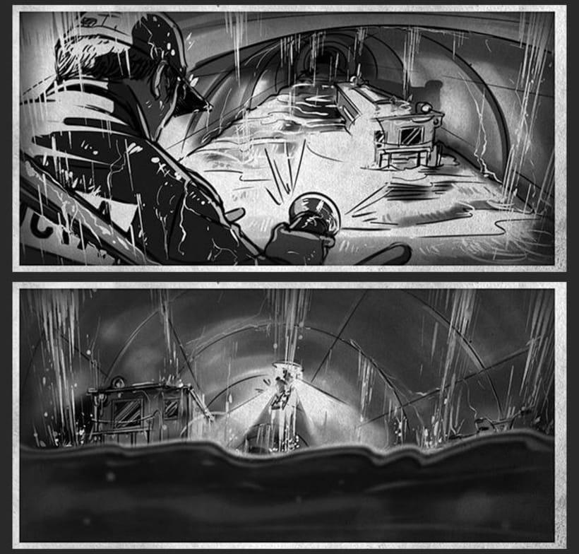 Cien años de perdón - Daniel Calparsoro (Film Concept art & Storyboards) 2
