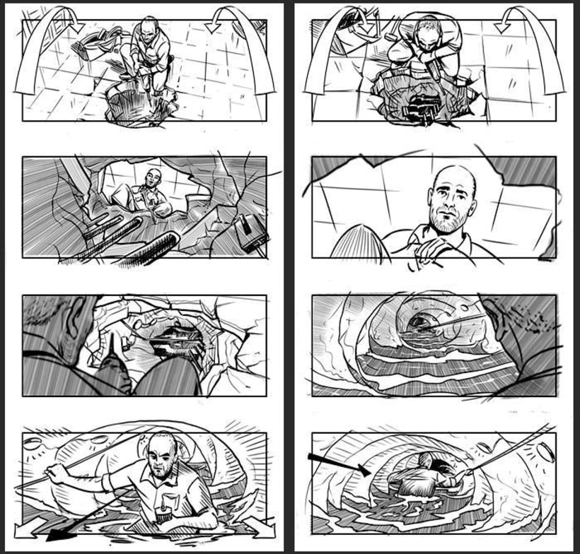 Cien años de perdón - Daniel Calparsoro (Film Concept art & Storyboards) 3