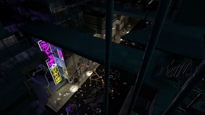 Cinema4D Apocaliptic City Night Scene 0
