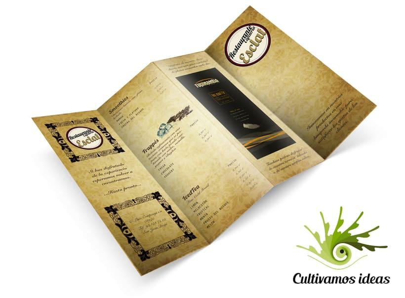 Carta Restaurante Esclat 1