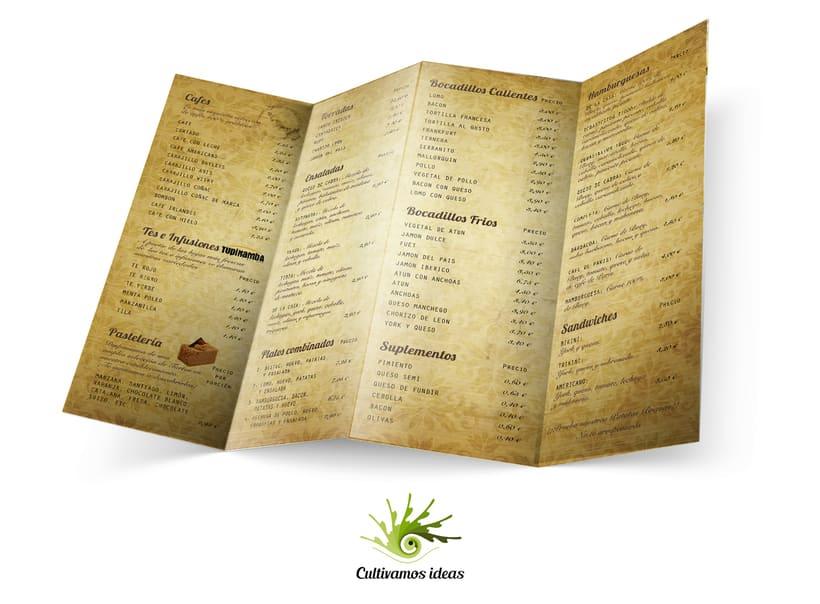 Carta Restaurante Esclat 2
