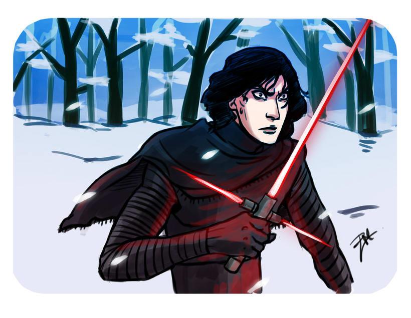 Kylo Ren drawings (Star Wars 7) 1