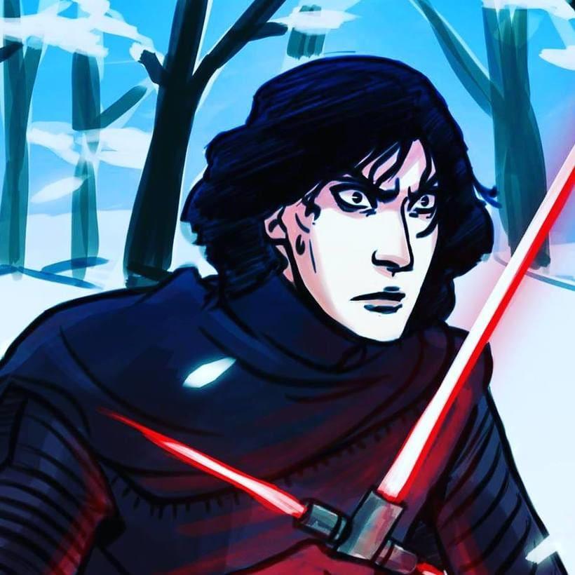 Kylo Ren drawings (Star Wars 7) 2