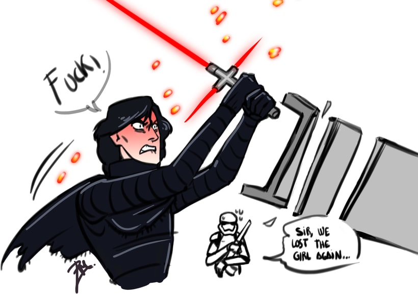 how to draw easy kylo ren