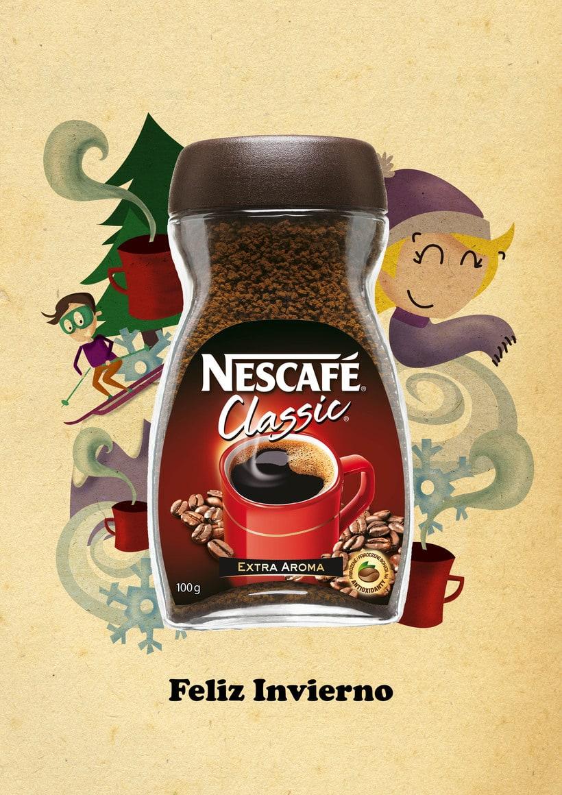 Feliz Invierno. Propuesta campaña Nescafé -1