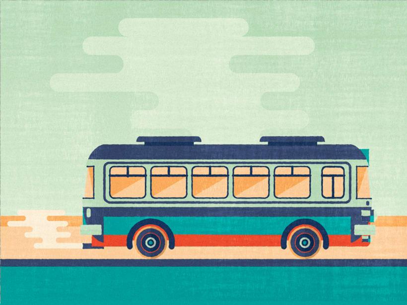 Tren y autobús  0