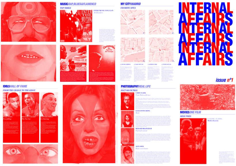 """""""Internal Affairs ZINE"""" _Diseño, maquetación y producción de Fanzine. El Fanzine esta maquetado a modo de plano desplegable. -1"""
