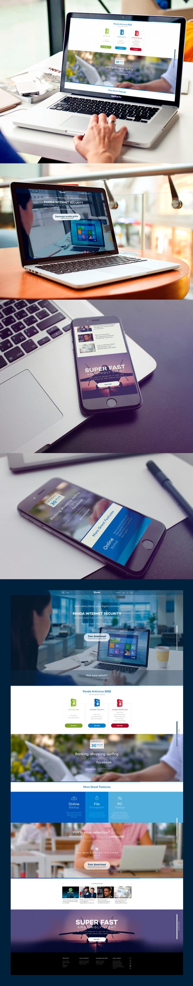 Panda Security - Web design -1
