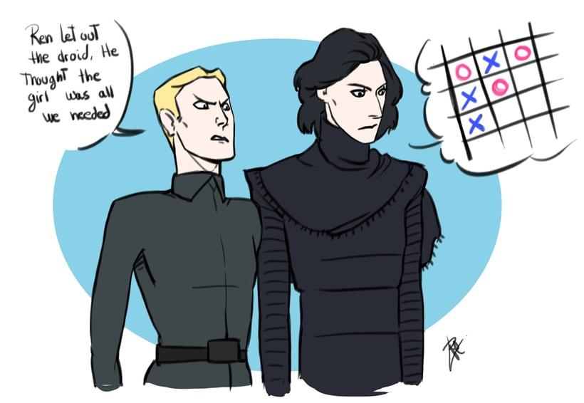 Kylo Ren drawings (Star Wars 7) 4