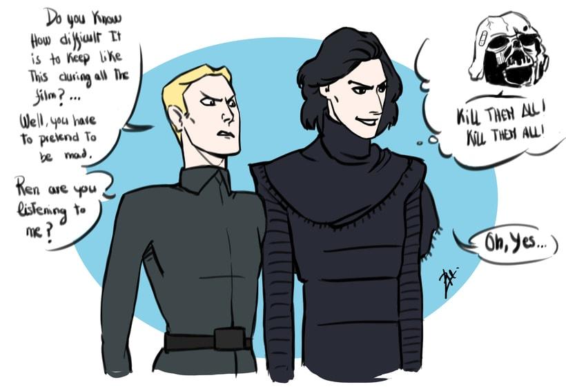 Kylo Ren drawings (Star Wars 7) 6