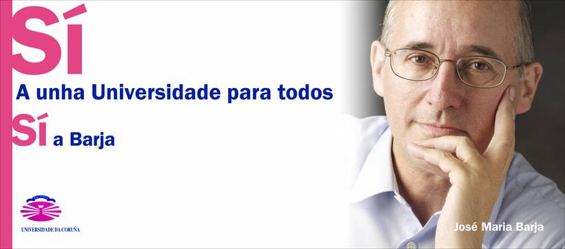 Campaña candidatura Nova Luce á Reitoría. Universidade da Coruña 1