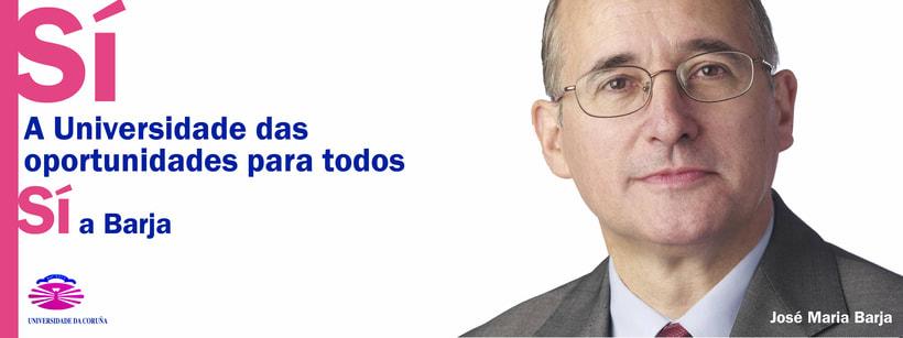 Campaña candidatura Nova Luce á Reitoría. Universidade da Coruña 2