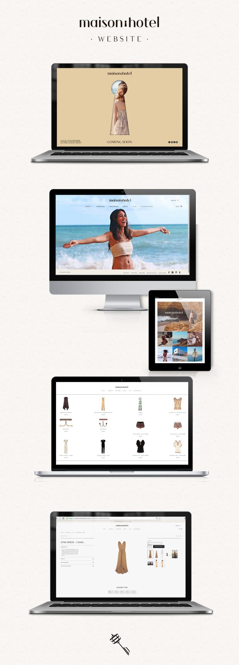 Branding de moda completo para maison hôtel (www.maisonh.com) 7