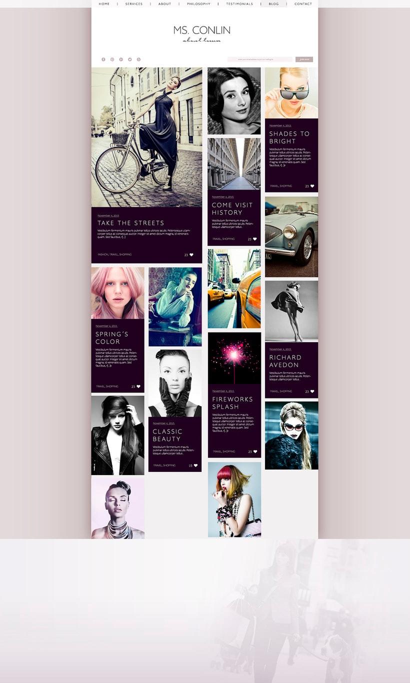 Jackie Conlin - Website Design 1