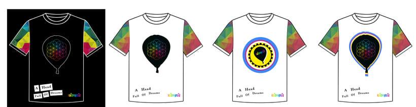 Diseños de playeras para concurso de Coldplay 2016 0
