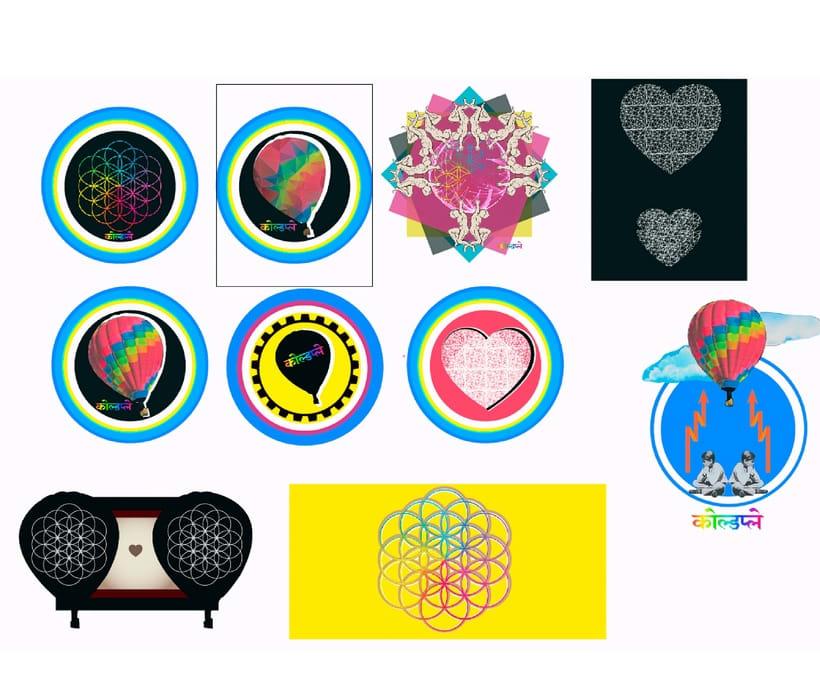 Diseños de playeras para concurso de Coldplay 2016 1