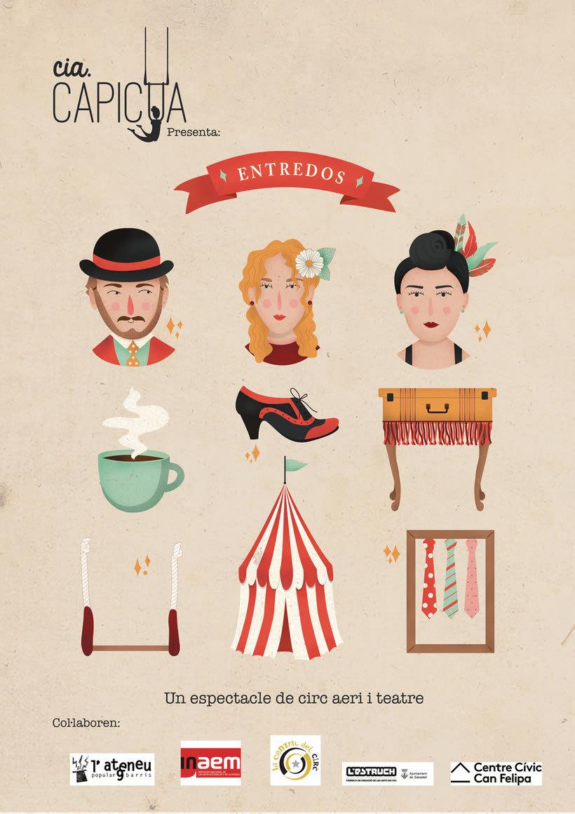 Carteles para compañía de circo contemporáneo 0