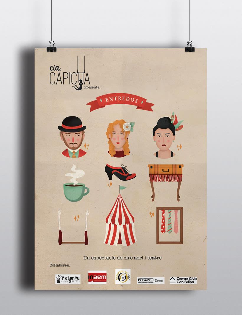 Carteles para compañía de circo contemporáneo 1