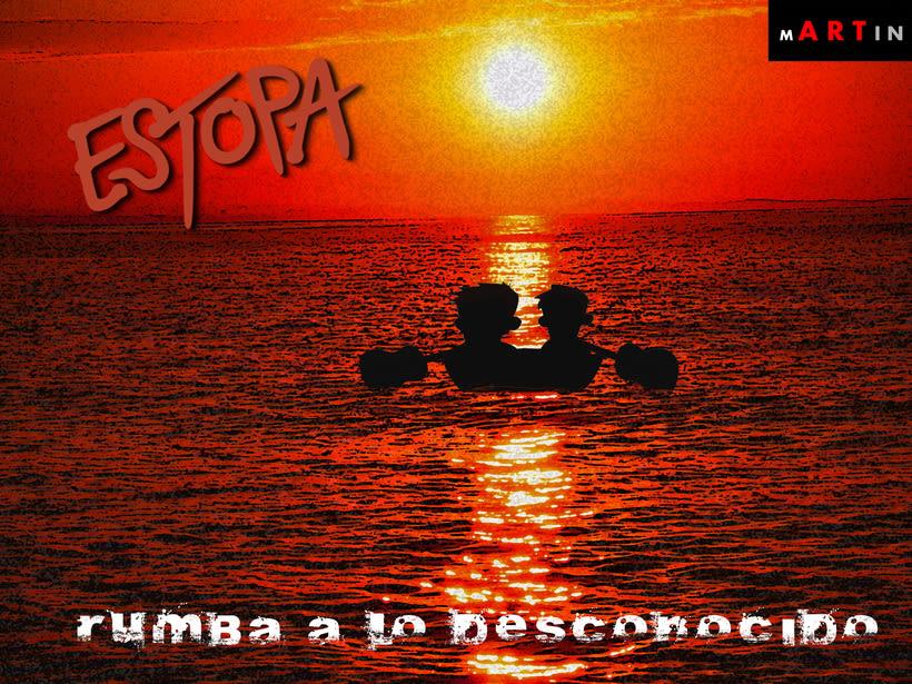 """Concurso Portada """"Rumba a lo desconocido"""" - Estopa -1"""