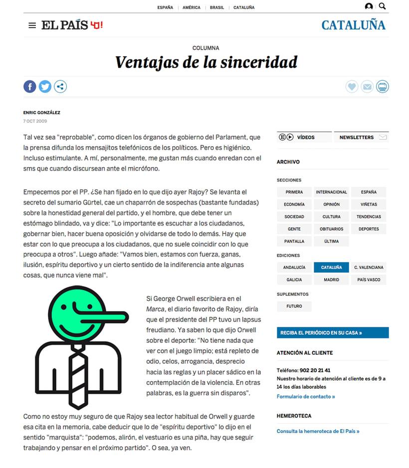 Ventajas de la sinceridad- Mi Proyecto del curso: Ilustración Editorial 1