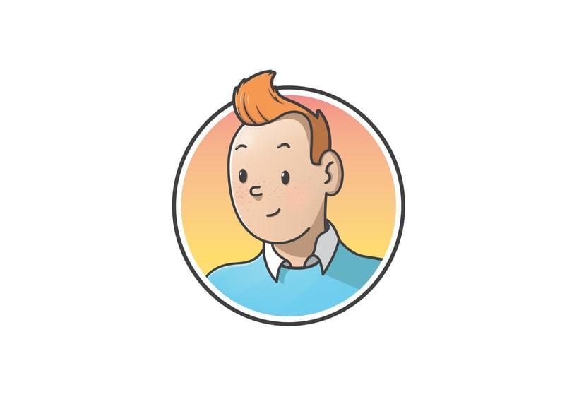 """Diseño de personajes de """"Las Aventuras de Tintín"""" 1"""