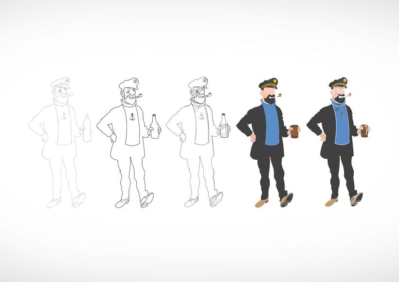 """Diseño de personajes de """"Las Aventuras de Tintín"""" 2"""
