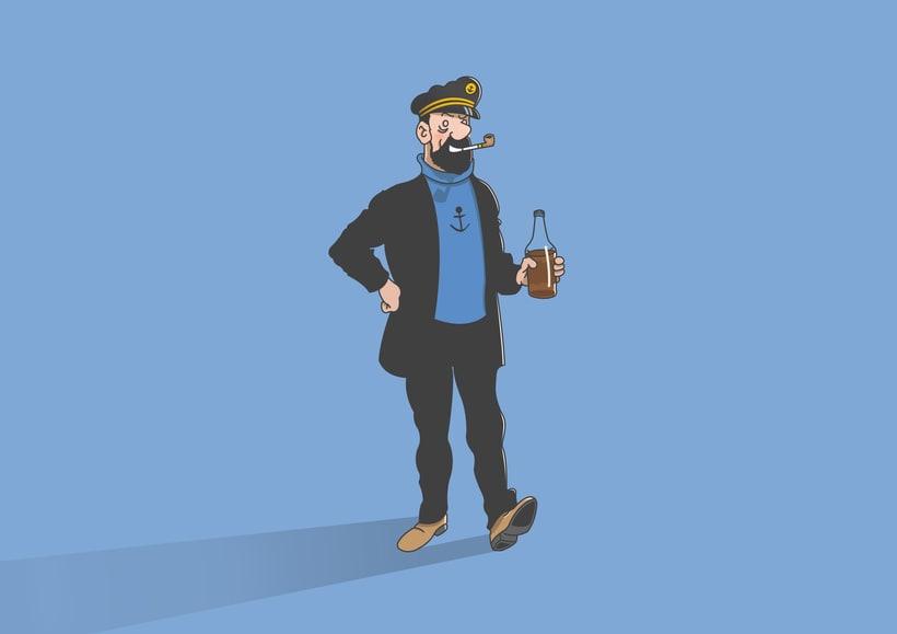 """Diseño de personajes de """"Las Aventuras de Tintín"""" 3"""